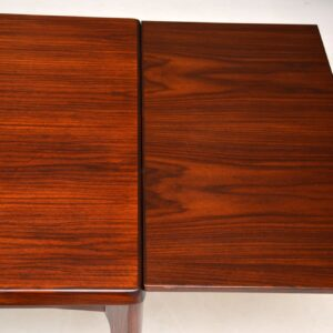 danish rosewood extending dining table