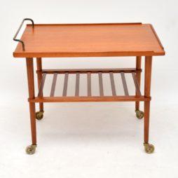 danish retro vintage teak drinks trolley arne hovmand-olsen