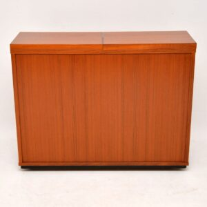 1960's Danish Teak Captains Bar / Drinks Cabinet by Dyrlund