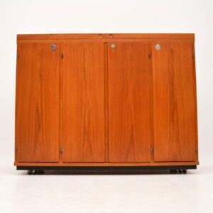 danish teak retro vintage drinks cabinet captains bar dyrlund