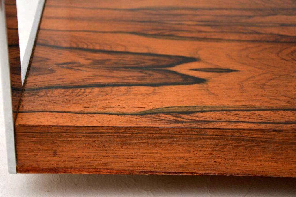 retro vintage rosewood chrome coffee table merrow associates