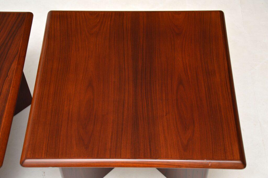 pair of danish retro vintage rosewood side tables