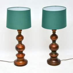 pair of retro vintage ceramic table lamps