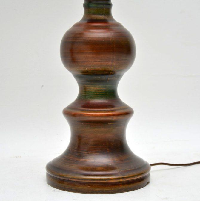 pair of retro vintage ceramic table lamps