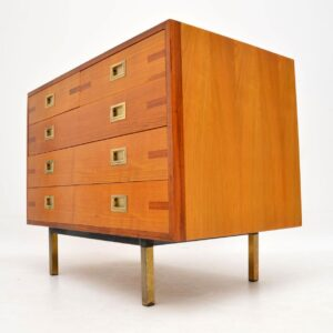1960's Vintage Elm & Walnut Chest of Drawers