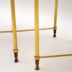1960's Pair of Vintage Brass & Glass Side Tables