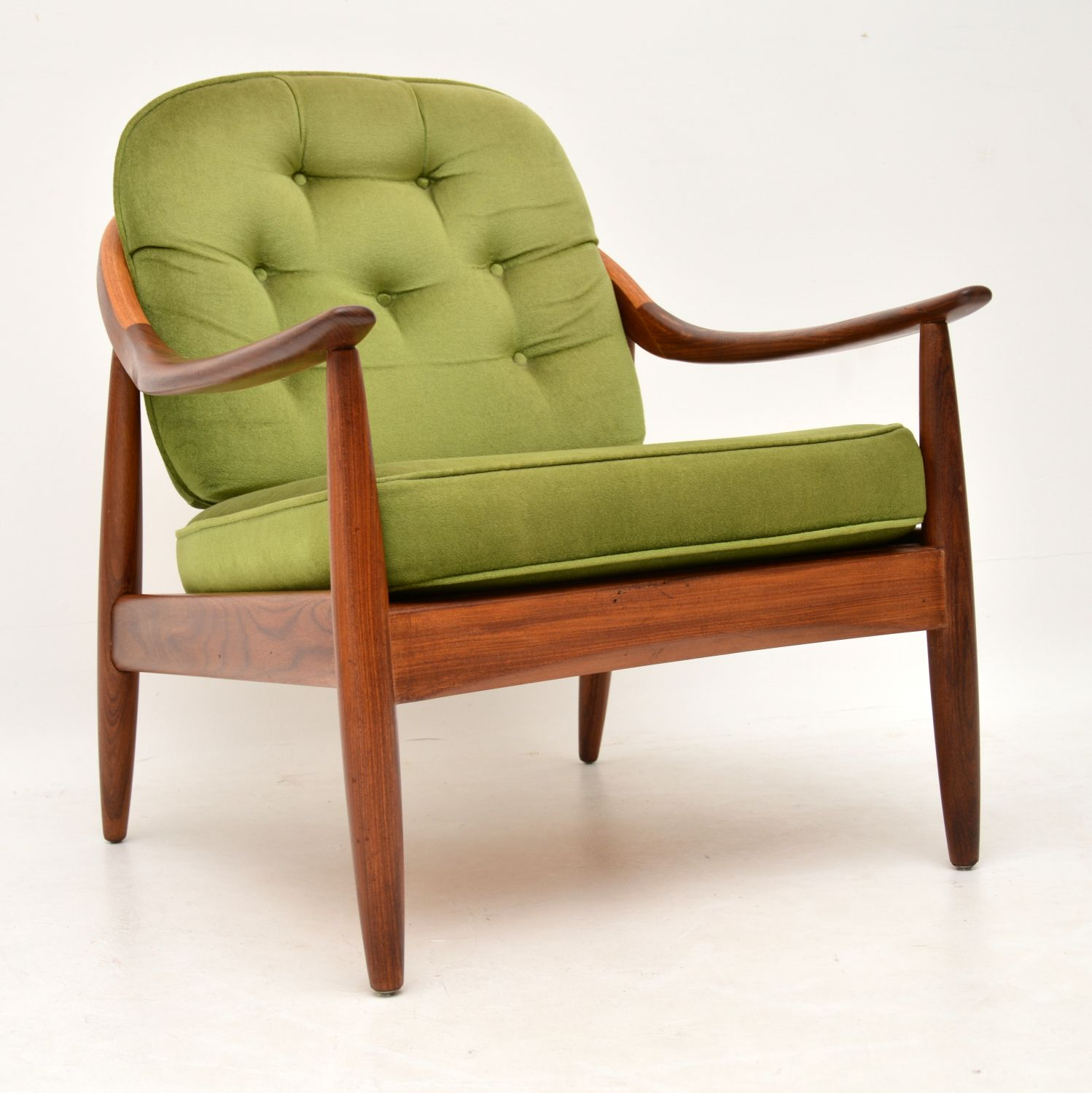 retro vintage teak afromosia armchair by greaves and thomas