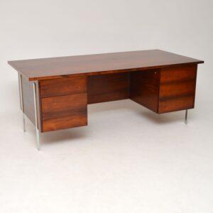 retro vintage robin day rosewood chrome desk