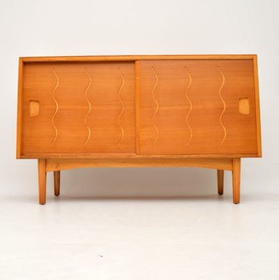 retro vintage walnut elm sideboard