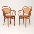 set_of_four_retro_vintage_antique_thonet_bentwood_dining_bistro_cafe_chairs_2
