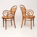 set_of_four_retro_vintage_antique_thonet_bentwood_dining_bistro_cafe_chairs_4