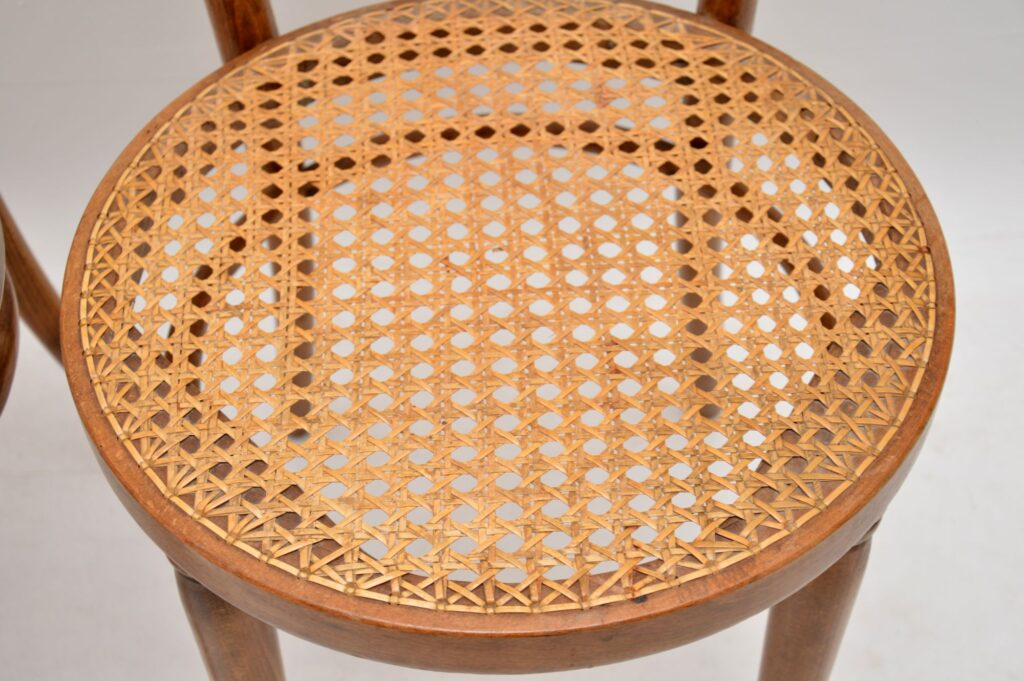 set of four retro vintage bentwood thonet dining chairs