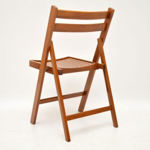 set of four retro vintage folding dining chairs