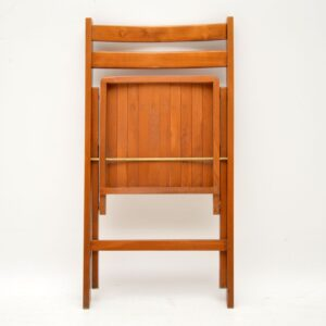 1960's Vintage Set of Four Folding Dining Chairs