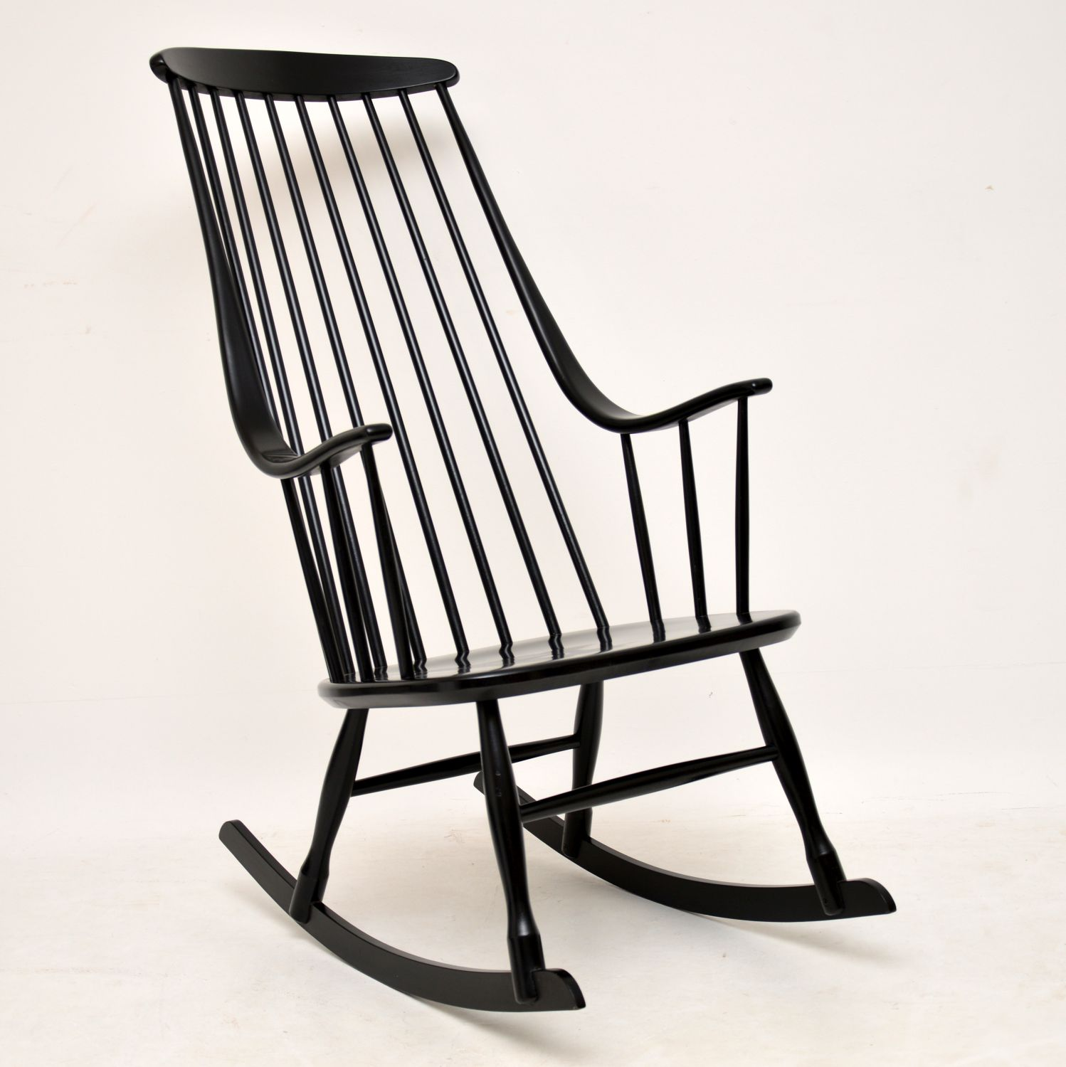 retro vintage scandinavian rocking chair armchair ilmari tapiovaara