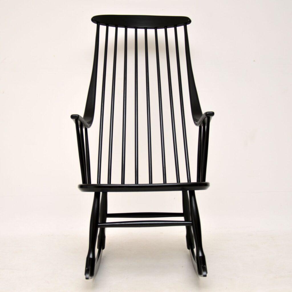 retro vintage scandinavian rocking chair armchair ilmari tapiovaara