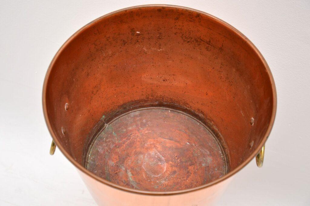 vintage retro copper champagne ice bucket