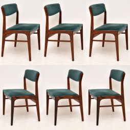 set of six danish rosewood dining chairs retro vintage erik buch johannes andersen