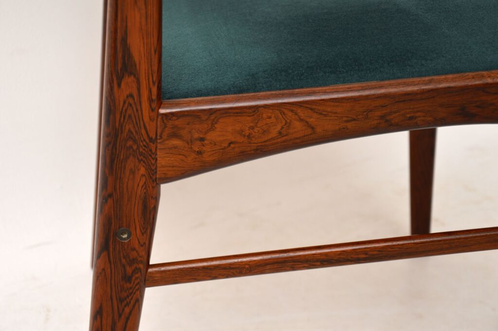 danish rosewood retro vintage dining chairs