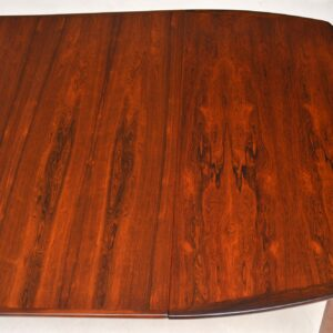 1960's Scandinavian Rosewood Dining Table by Rastad & Relling