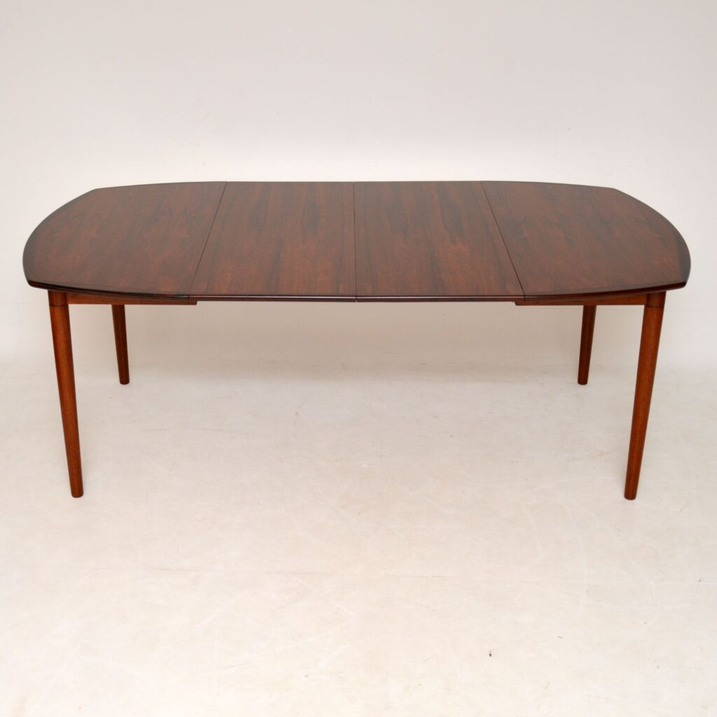 danish rosewood retro vintage dining table rastad and relling