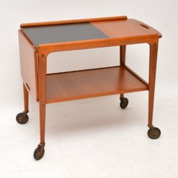 retro vintage teak drinks trolley yngve ekstrom swedish design