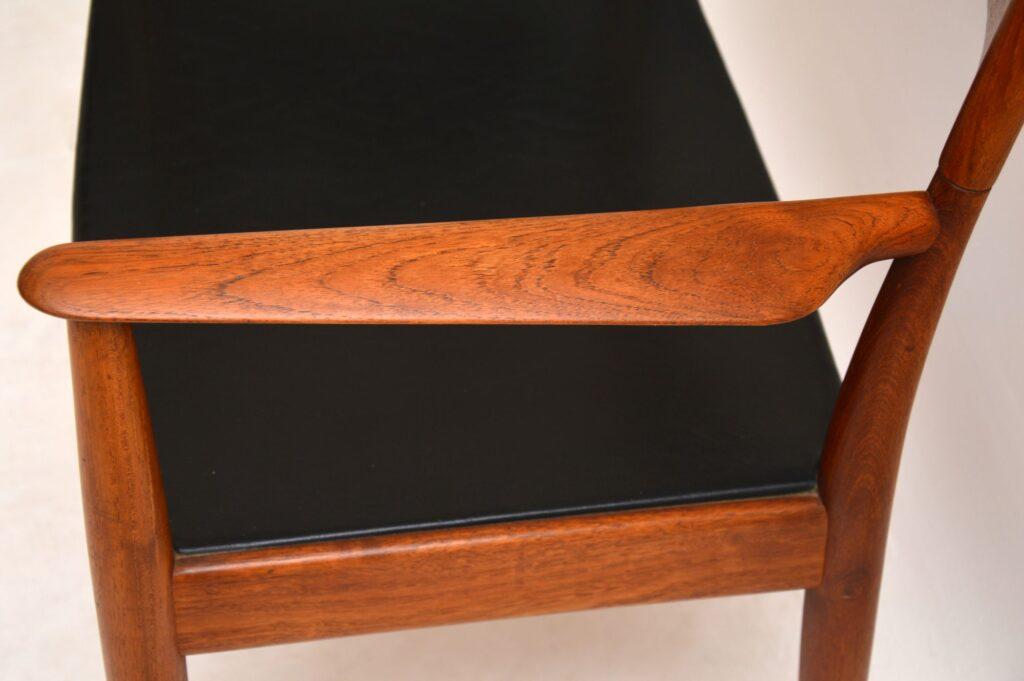 danish teak retro vintage armchair carver chair desk chair by arne hovmand olsen mogens kold