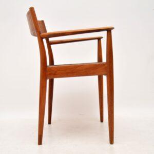 1960's Danish Teak Carver Armchair by Arne Hovmand-Olsen
