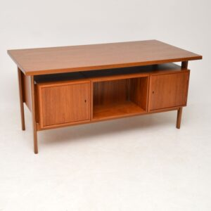 danish teak retro vintage desk by kai kristiansen