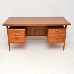 danish teak retro vintage desk by kai kristiansen