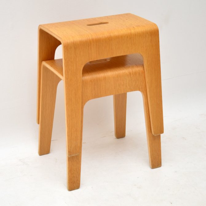 pair of swedish bentwood stools side tables peter brandt