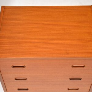 danish teak retro vintage pair of bedside chests cabinets