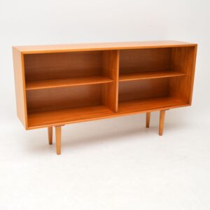 1950's Vintage Satin Wood Bookcase by Robin Day for Hille
