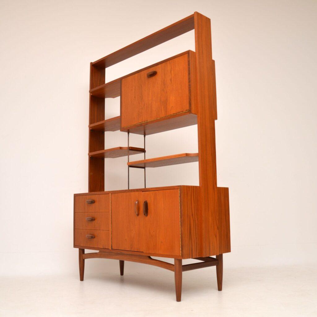 danish teak retro vintage bookcase cabinet wall unit room divider g- plan