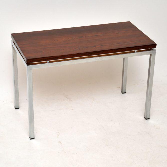 danish retro rosewood vintage side table coffee table