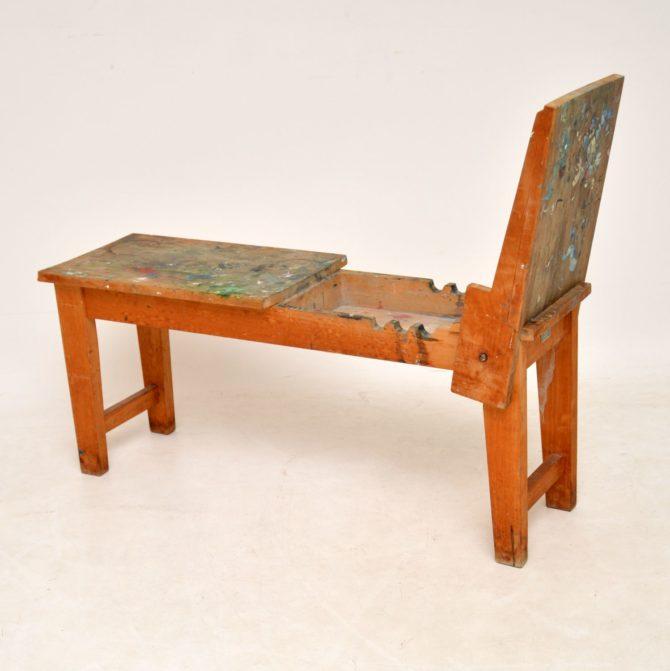 vintage retro winsor and newton easel donkey platform bench