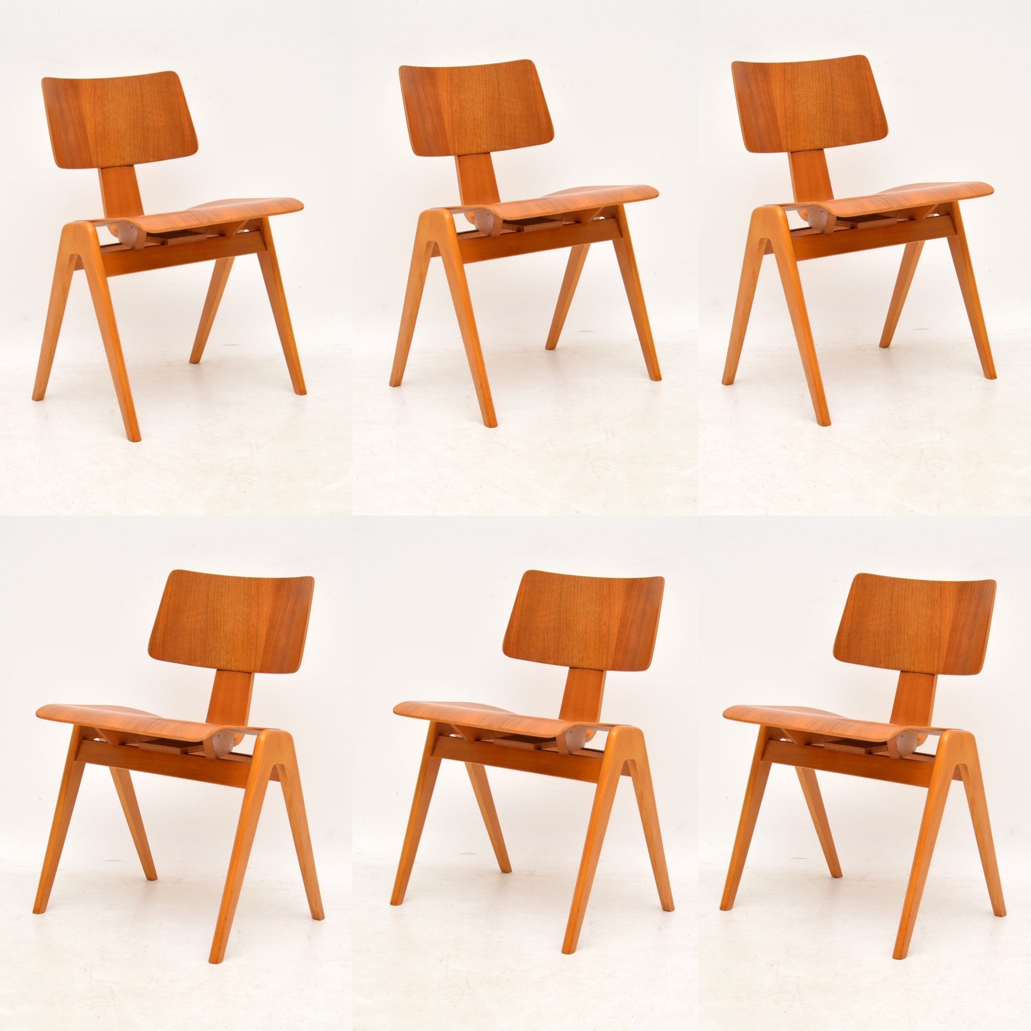 retro vintage hille robin day hillestak dining chairs