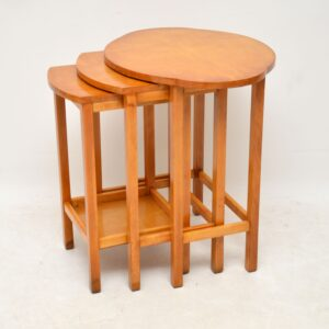 art deco satin wood nest of tables