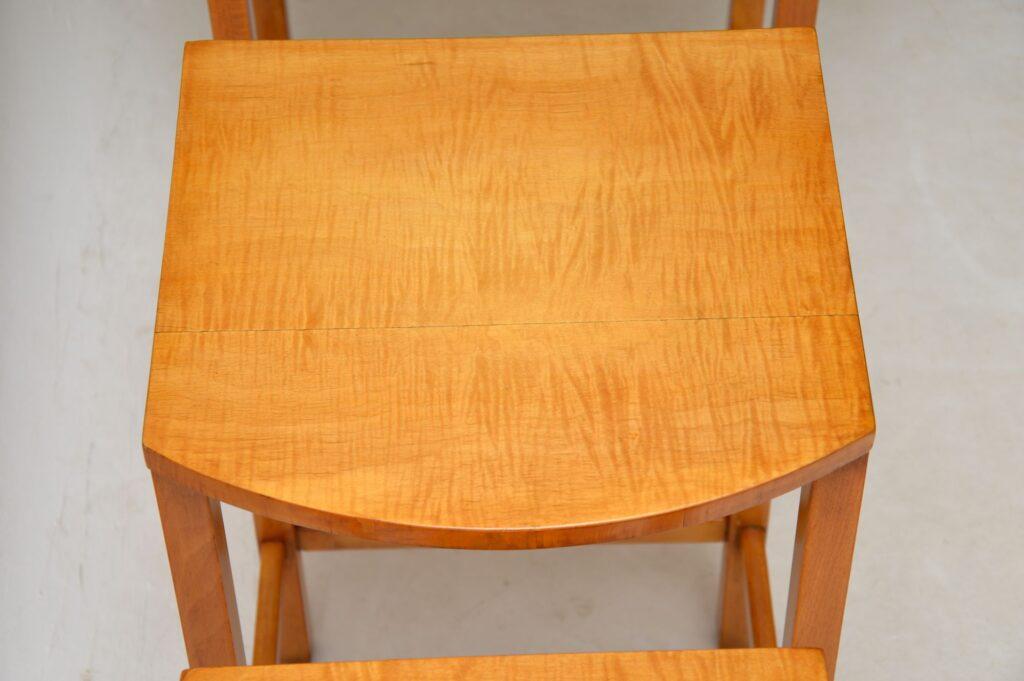 art deco satin wood nest of tables