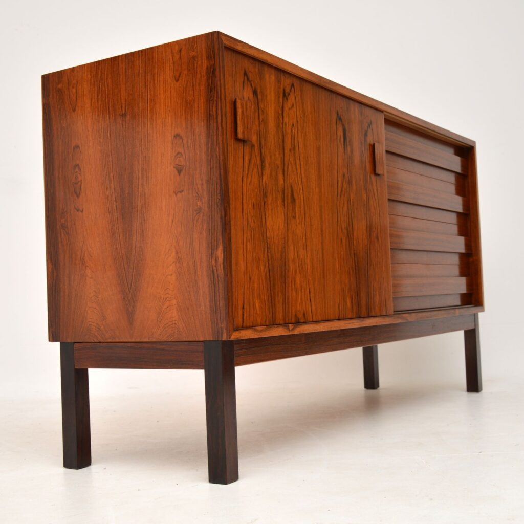 danish retro vintage rosewood sideboard