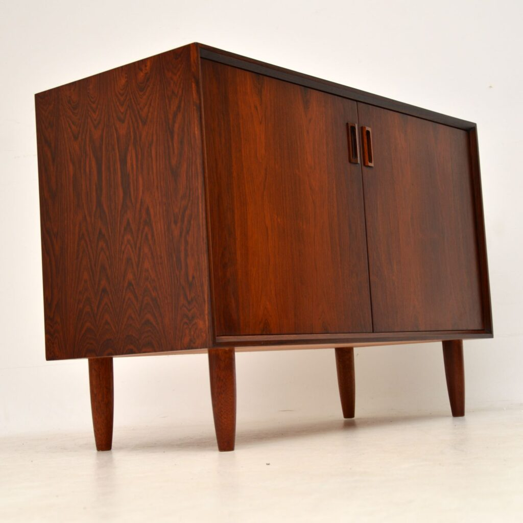 danish retro vintage rosewood sideboard cabinet