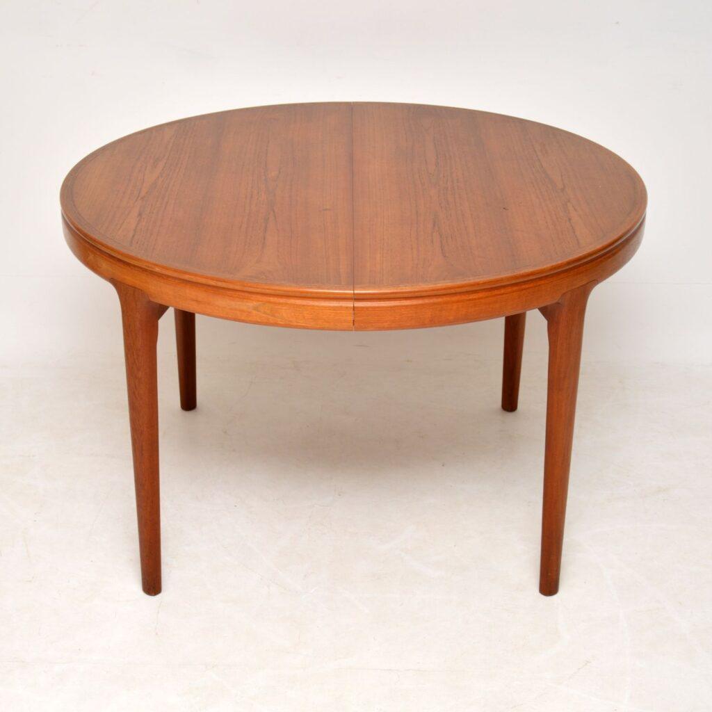 danish teak retro vintage dining table kofod larsen
