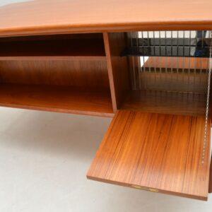 1960's Vintage Danish Teak Desk by Tibergaard
