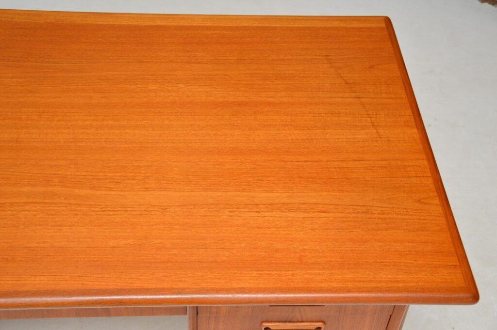 danish teak retro vintage desk tibergaard