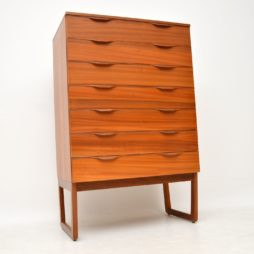 danish retro vintage teak chest of drawers