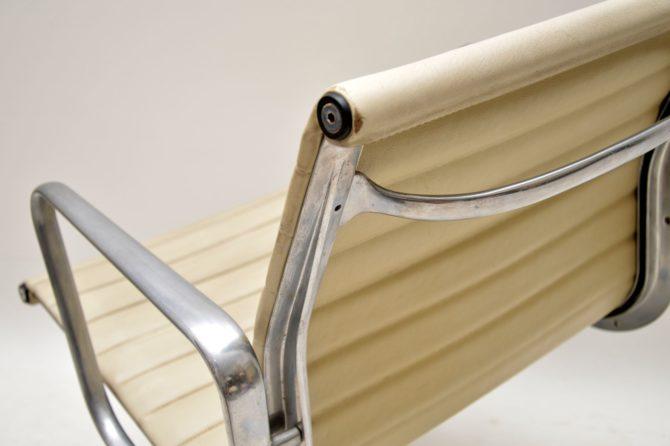 original vintage retro charles eames leather desk chair