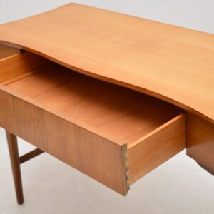 1960's Vintage Walnut & Satin Wood Desk / Console Table