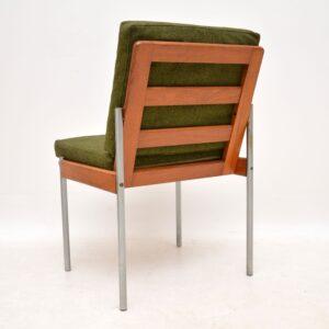 retro vintage teak danish side chair desk chair