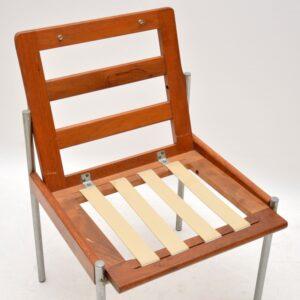 1970's Vintage Teak & Aluminium Lounge / Desk Chair