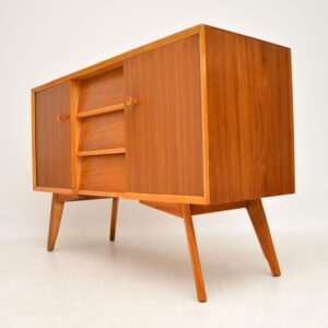retro vintage walnut danish sideboard